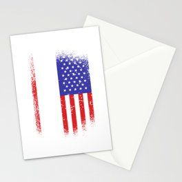 Skydive - USA, American flag Stationery Cards
