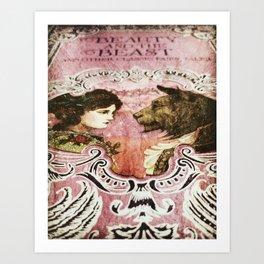 La Belle et la Bete Art Print
