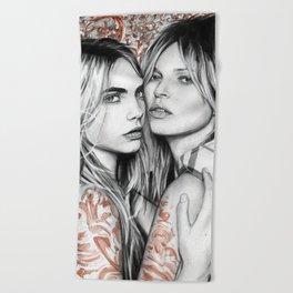 Kate and Cara Beach Towel