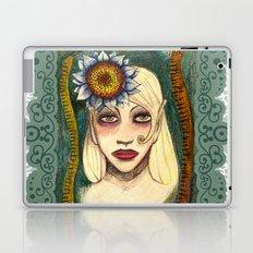 snakes and sunflower girl Laptop & iPad Skin