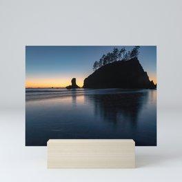 Sea Stack Silhouette Mini Art Print