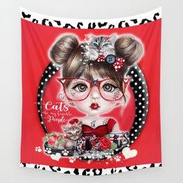 Cat Crazy Chloe - MunchkinZ Elf - Sheena Pike Art & Illustration Wall Tapestry