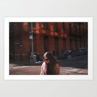 Crossing the Street - NYC  Art Print
