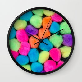 Fuzzy Things Wall Clock