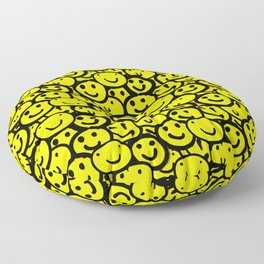 Smiley Face Yellow Floor Pillow