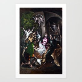 El Greco The Adoration of the Shepherds Art Print
