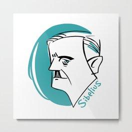 Jean Sibelius #4 Metal Print