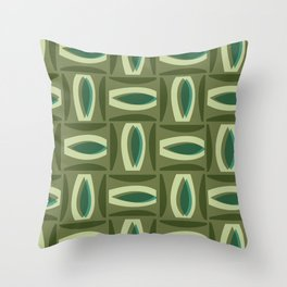 Alcedo - Green Throw Pillow