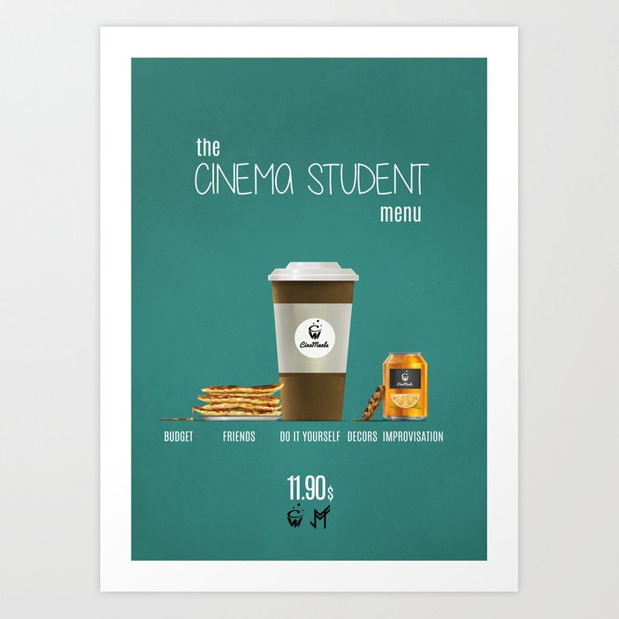 Cinema student menu Art Print