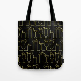 Happy Hour - Black/Gold Tote Bag