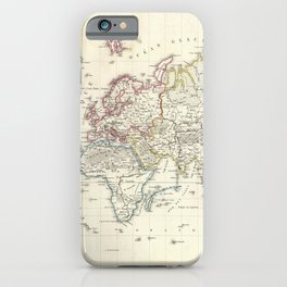 Vintage Map of The World (1816) iPhone Case