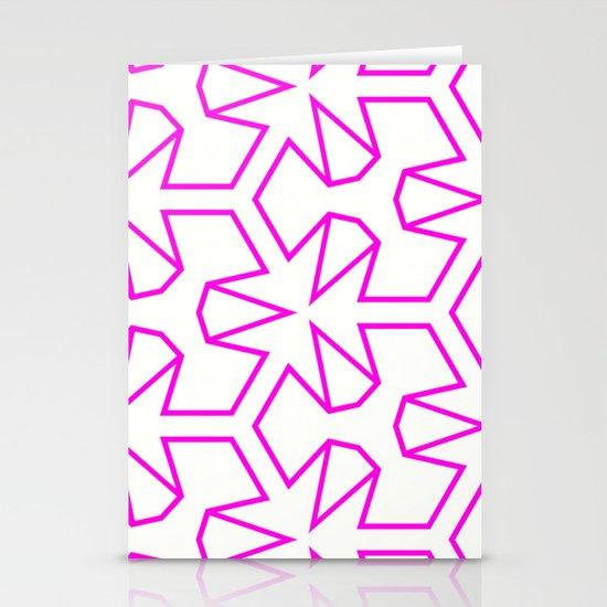 Van Zwaben Pink Neon Pattern Stationery Cards
