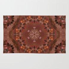 Hardwood Hill Brown Kaleidoscope Rug
