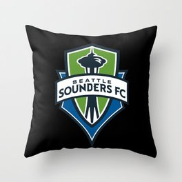 Seattle Sounders Throw Pillow