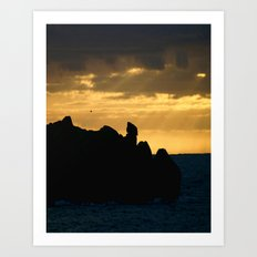 Rock Silhouette Art Print