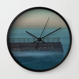 Seawall at Children's Pool Early in the Morning, La Jolla California Wall Clock