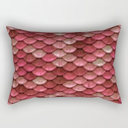 Red Penny Scales Rectangular Pillow