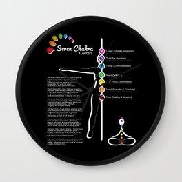 Seven Chakra Poster #05 Wall Clock