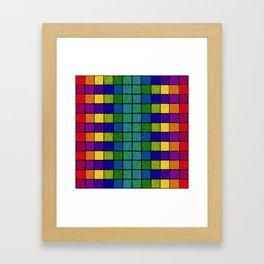 Sponged Chex Framed Art Print