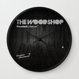 Back Ebony Wall Clock