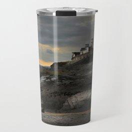 Steampunk / Burtonesque Coastal Fort Travel Mug
