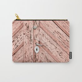 pink wooden doors Carry-All Pouch
