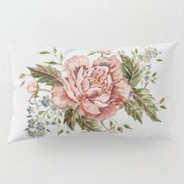 Pink Wild Rose Bouquet Pillow Sham