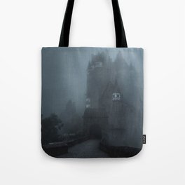 Eerie Castle Eltz in the mist Tote Bag