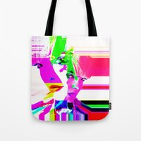 holographic Tote Bags featuring future holographic lover by Robert Alan
