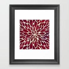 Petal Burst - Maroon Framed Art Print