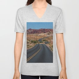 Valley of Fire - Nevada USA Unisex V-Neck