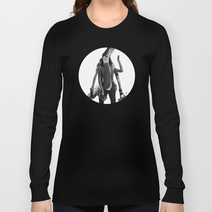 Build a Woman - Cut and Glue · Dizzy Miss Lizzy · Day · Crop Circle Long Sleeve T-shirt