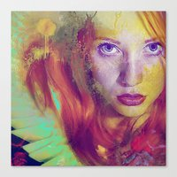 angel Canvas Prints featuring Angel by Ganech joe