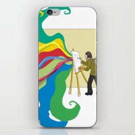An artist who paints iPhone Skin