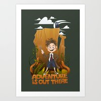 adventure is out there Art Prints featuring Adventure by BlancaJP - Jonna Piltti