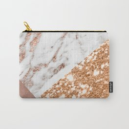 Layers of rose gold Carry-All Pouch
