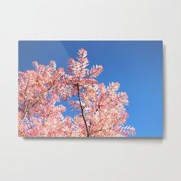 Feather Tree Metal Print