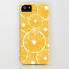 Orange slices pattern design iPhone (5, 5s) Slim Case