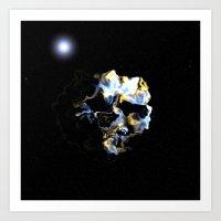 Ghostly Nebulae Art Print