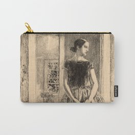 Childe Hassam - Girl in a Modern Gown Carry-All Pouch