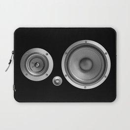Subwoofer Speaker on black Laptop Sleeve