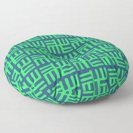 African Inspired Tribal Symbols Floor Pillow