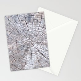 Ancient Tree Stump Grey With Age, Very Old Tree Stump Stationery Cards