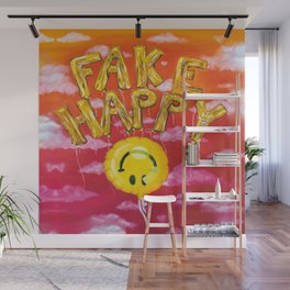 Fake Happy Wall Mural