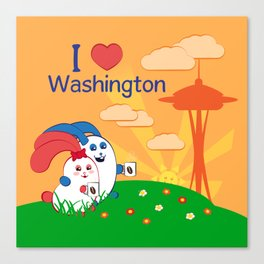 Ernest and Coraline | I love Washington Canvas Print