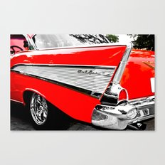 Chevrolet Bel Air Fin Red & Chrome Canvas Print
