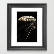 Lines and Curves Framed Art Print