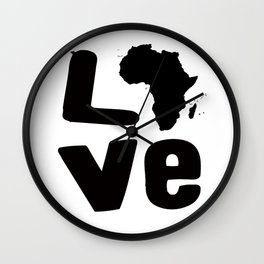 Afrakan Love  Wall Clock