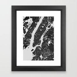 New York – Abstract Map Framed Art Print