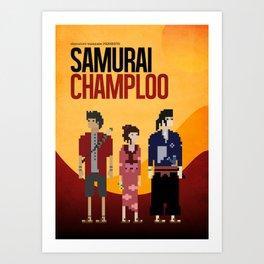 Pixel Art - Samurai Champloo Art Print